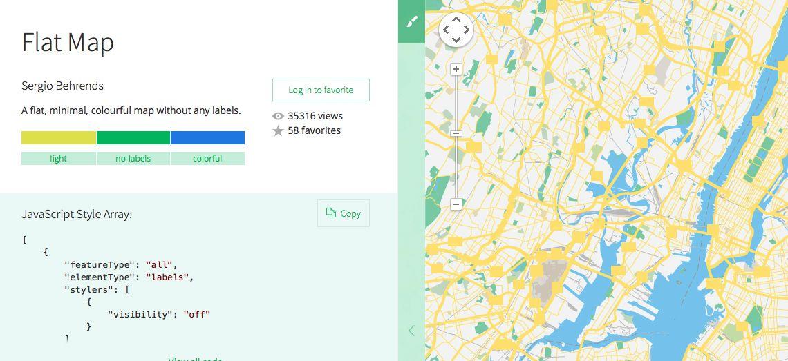 best design websites - snazzy maps