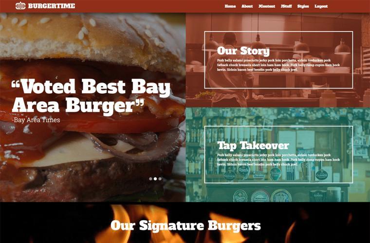 Joomla Template BurgerTime by JoomlaXTC